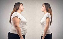 Dame met overgewicht